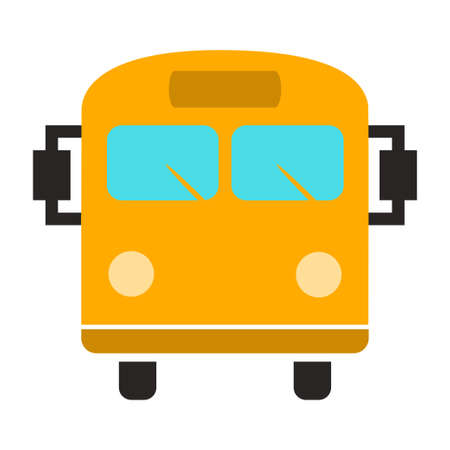 vector Bus illustration - shuttle Bus symbol, travel icon Illustration
