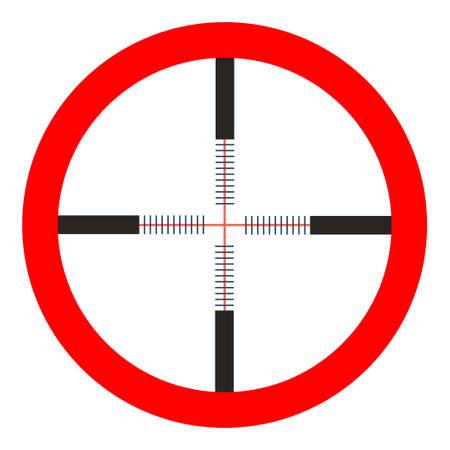 crosshairs icon - vector target aim, sniper symbol - weapon illustration Illustration
