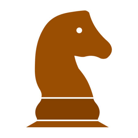 vector Chess game horse illustration - chess game, strategy Illustration