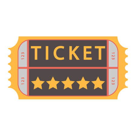 movie ticket. vector Admit one illustration, admission pass