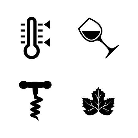 Wine Making, Winemaking. Simple Related Vector Icons Set for Video, Mobile Apps, Web Sites, Print Projects and Your Design. Wine Making, Winemaking icon Black Flat Illustration on White Background.