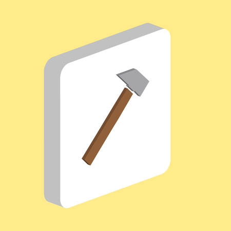Sledgehammer, Hammer Simple vector icon. Illustration symbol design template for web mobile UI element. Perfect color isometric pictogram on 3d white square. Hammer icons for you business project Ilustração
