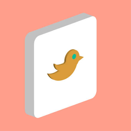 Bird Simple vector icon. Illustration symbol design template for web mobile UI element Perfect color isometric pictogram on 3d white square. Bird icons for you business project Illustration