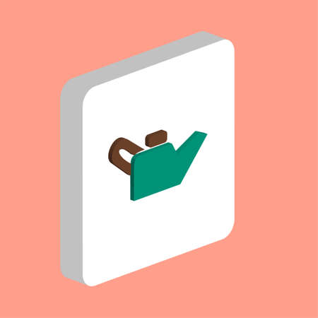 Engine Oil Simple vector icon. Illustration symbol design template for web mobile UI element. Perfect color isometric pictogram on 3d white square. Engine Oil icons for you business project