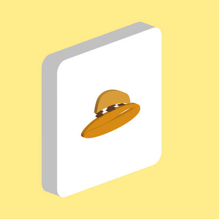 Cowboy Hat Simple vector icon. Illustration symbol design template for web mobile UI element. Perfect color isometric pictogram on 3d white square. Cowboy Hat icons for you business project