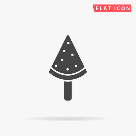 Watermelon ice cream. Flat design style minimal vector illustration icon for web design