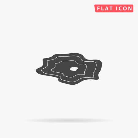 Water puddle. Liquid. Flat design style minimal vector illustration icon for web design