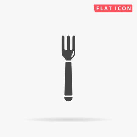 Restaurant fork. Flat design style minimal vector illustration icon for web design