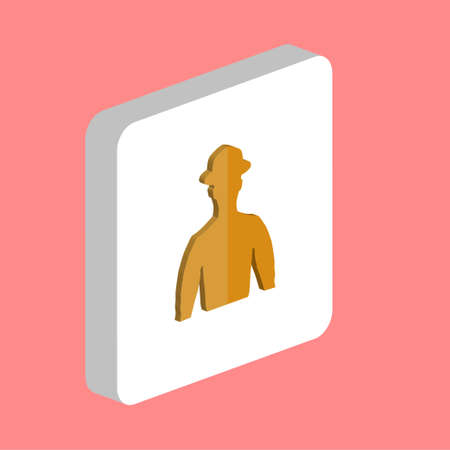 Cowboy, Avatar Simple vector icon. Illustration symbol design template for web mobile UI element. Perfect color isometric pictogram on 3d white square. Cowboy, Avatar icons for you business project