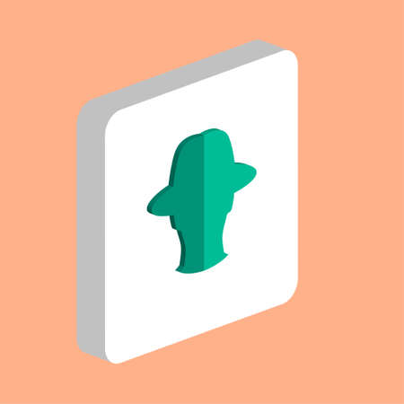 Agent, Avatar Simple vector icon. Illustration symbol design template for web mobile UI element. Perfect color isometric pictogram on 3d white square. Agent, Avatar icons for you business project Ilustração
