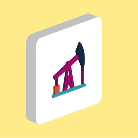 Oil Pump Simple vector icon. Illustration symbol design template for web mobile UI element. Perfect color isometric pictogram on 3d white square. Oil Pump icons for you business project