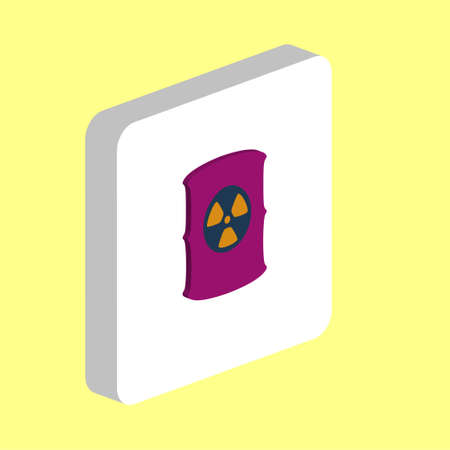 Radioactive Waste Simple vector icon. Illustration symbol design template for web mobile UI element. Perfect color isometric pictogram on 3d white square. Radioactive Waste icons for business project