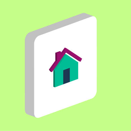 Real Estate Simple vector icon. Illustration symbol design template for web mobile UI element. Perfect color isometric pictogram on 3d white square. Real Estate icons for you business project Ilustração