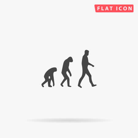Biology Evolution flat vector icon. Glyph style sign. Simple hand drawn illustrations symbol for concept infographics, designs projects, UI and UX, website or mobile application.