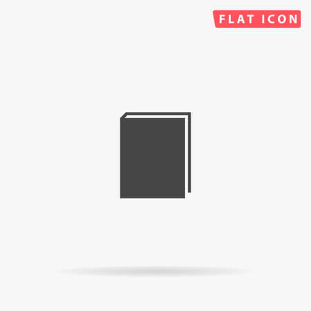Book flat vector icon. Glyph style sign. Simple hand drawn illustrations symbol for concept infographics, designs projects, UI and UX, website or mobile application. Ilustracja