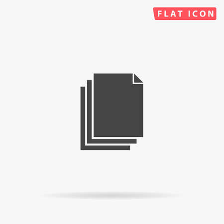 Stack File flat vector icon. Glyph style sign. Simple hand drawn illustrations symbol for concept infographics, designs projects, UI and UX, website or mobile application.