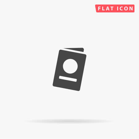 Passport flat vector icon. Glyph style sign. Simple hand drawn illustrations symbol for concept infographics, designs projects, UI and UX, website or mobile application.