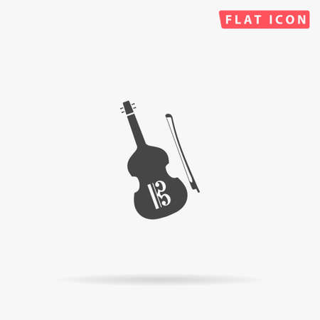 Altviool flat vector icon. Glyph style sign. Simple hand drawn illustrations symbol for concept infographics, designs projects, UI and UX, website or mobile application.