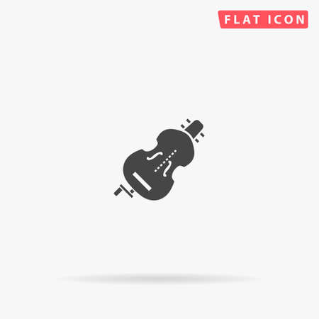 Hurdy Gurdy flat vector icon. Glyph style sign. Simple hand drawn illustrations symbol for concept infographics, designs projects, UI and UX, website or mobile application.