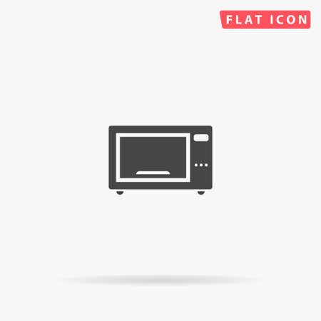 Microwave Oven flat vector icon. Glyph style sign. Simple hand drawn illustrations symbol for concept infographics, designs projects, UI and UX, website or mobile application.