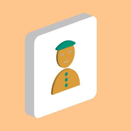 Happy Clown Jester Simple icon. Illustration symbol design template for web mobile UI element. Perfect color isometric pictogram on 3d white square Happy Clown Jester icons for business project