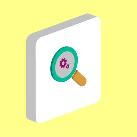 Business Analysis Simple vector icon. Illustration symbol design template for web mobile UI element. Perfect color isometric pictogram on 3d white square. Business Analysis icons for business project