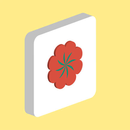 Swirl Flower Simple vector icon. Illustration symbol design template for web mobile UI element. Perfect color isometric pictogram on 3d white square. Swirl Flower icons for business project