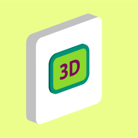 Three dimensional, 3D Simple vector icon. Illustration symbol design template for web mobile UI element. Perfect color isometric pictogram on 3d white square. 3D icons for business project Vektorgrafik