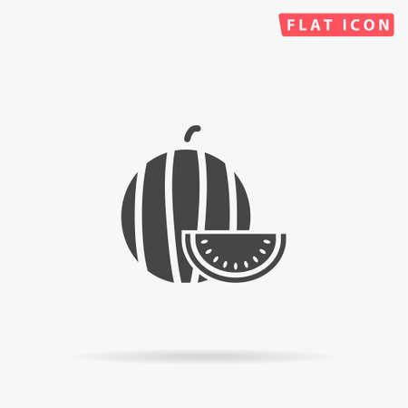 Watermelon flat vector icon. Hand drawn style design illustrations. Stock Illustratie