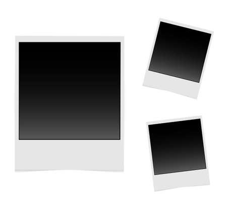 Realistic vector photo frame. Template photo design. Vector illustration Stock Illustratie
