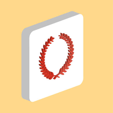 Sport Wreath Simple vector icon. Illustration symbol design template for web mobile UI element. Perfect color isometric pictogram on 3d white square. Sport Wreath icons for business project
