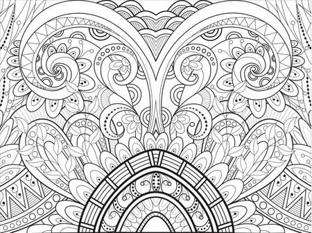Vector linear decorative background ornament