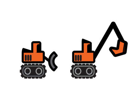 Two Vector Construction Tractors Stock Vector - 8985241