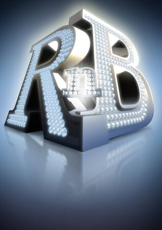 grote letters rnb Stockfoto
