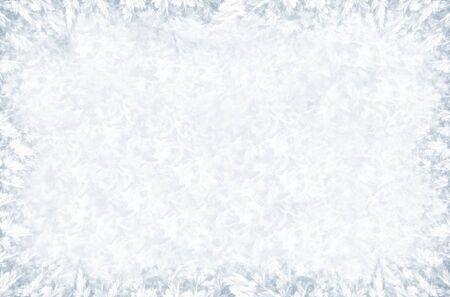 Big frosty pattern on winter window
