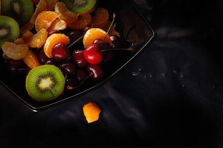 A picture of fresh juicy fruits