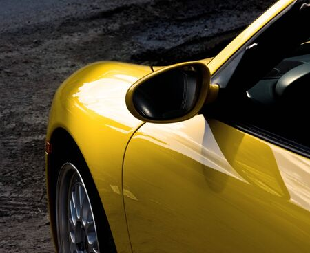 Picture of a sunny yellow car