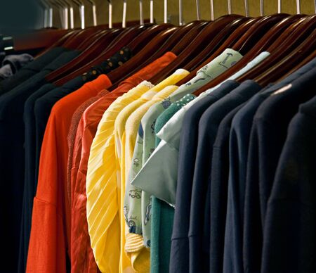 A picture of colorful dresses Stock Photo