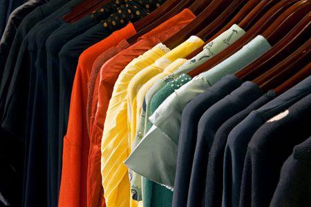Een foto van kleurrijke jurken Stockfoto
