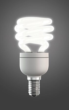 energy saving lamp with clipping path
