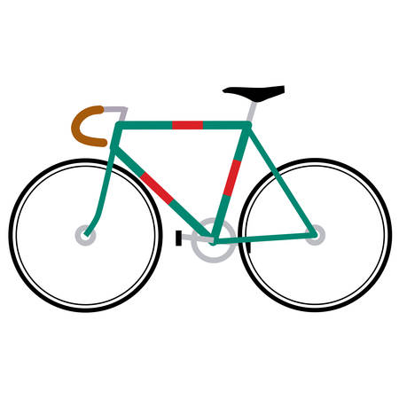road bike: Road bicycle Vector. Bike illustration