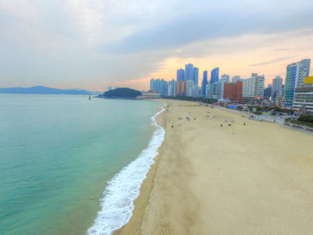 Cityscape of winter Haeundae Beach, Busan , South Korea,Asia when Nov-01-2017