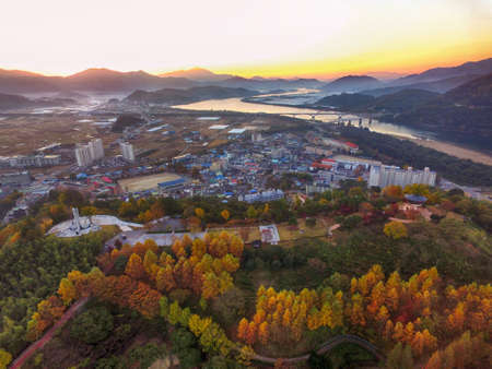 Sunrise at Hadong Songlim Pine Forest Park, Hadong, Gyeongnam, South Korea, Asia Imagens