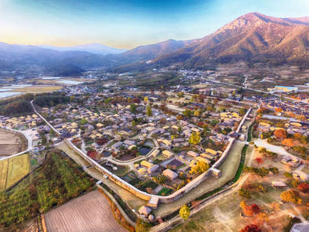 Nakan Eupseong Fortless Traditional Village, Suncheon, Jeollanamdo, South Korea Asia 스톡 콘텐츠