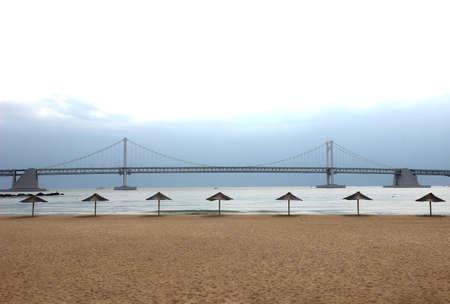 Gwangandaegyo Bridge and Parasol in Gwangalli, Busan, South Korea, Asia