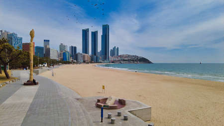 Scenery of haeundae beach, Busan, South Korea, Asia Фото со стока