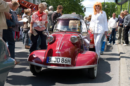 Messerschmitt KR200, the exhibition  125 car history - 125 years of history Kurfurstendamm , May 28, 2011 in Berlin, Germany Editorial