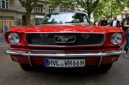 mustang gt: Ford Mustang GT in 1968, the exhibition  125 car history - 125 years of history Kurfurstendamm , May 28, 2011 in Berlin, Germany