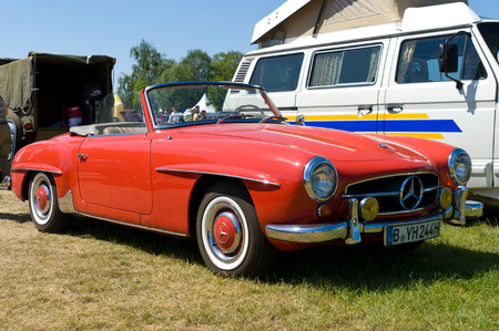 Car Mercedes-Benz 190SL,  The oldtimer show  in MAFZ, May 26, 2012 in Paaren im Glien, Germany