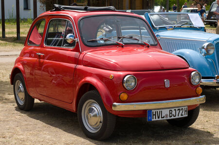 The Fiat 500,  The oldtimer show  in MAFZ, May 26, 2012 in Paaren im Glien, Germany